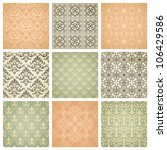 set of nine seamless pattern in ... | Shutterstock .eps vector #106429586