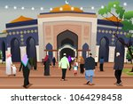 a vector illustration of... | Shutterstock .eps vector #1064298458