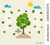 eco friendly. ecology concept...   Shutterstock .eps vector #1064302370