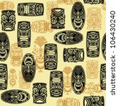 seamless pattern with tiki mask | Shutterstock .eps vector #106430240