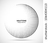 Halftone Circle Frame Abstract...