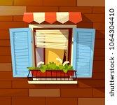 house facade vector... | Shutterstock .eps vector #1064304410