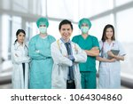 asian medical team surgeon and... | Shutterstock . vector #1064304860