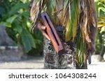 cook islander man plays on a... | Shutterstock . vector #1064308244