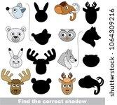 northern zoo animals heads set... | Shutterstock .eps vector #1064309216