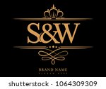 s w initial logo  ampersand... | Shutterstock .eps vector #1064309309