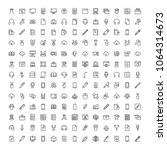 e learning icon set. collection ... | Shutterstock .eps vector #1064314673
