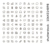 communication icon set.... | Shutterstock .eps vector #1064314898