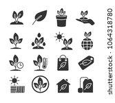 vector image set of plants... | Shutterstock .eps vector #1064318780