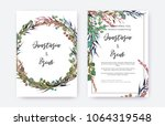 wedding invitation frame set ... | Shutterstock .eps vector #1064319548