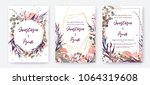 wedding invitation frame set ... | Shutterstock .eps vector #1064319608