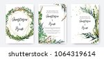 wedding invitation frame set ... | Shutterstock .eps vector #1064319614