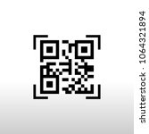 qr code for mobile payment ... | Shutterstock .eps vector #1064321894