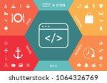 code editor icon   Shutterstock .eps vector #1064326769
