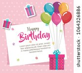 happy birthday balloons air and ... | Shutterstock .eps vector #1064326886