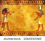 Grunge Background With Egyptian ...