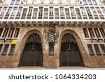 guell palace or palau guell is... | Shutterstock . vector #1064334203