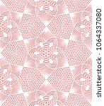 seamless lace pattern on pink... | Shutterstock .eps vector #1064337080