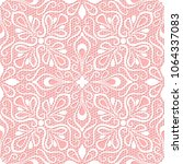 seamless lace pattern on pink... | Shutterstock .eps vector #1064337083
