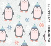 childish seamless pattern with... | Shutterstock .eps vector #1064337449
