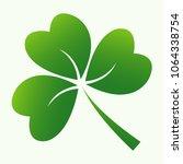 leaf of clover icon three irish ... | Shutterstock .eps vector #1064338754