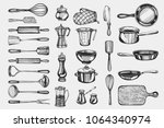 kitchenware. hand drawn cooking ... | Shutterstock .eps vector #1064340974