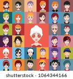 set of people icons in flat... | Shutterstock .eps vector #1064344166