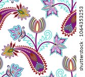 seamless pattern with maroon... | Shutterstock .eps vector #1064353253