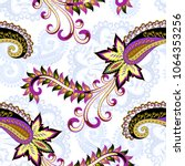seamless contrast pattern with... | Shutterstock .eps vector #1064353256