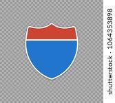 interstate highway road sign.... | Shutterstock .eps vector #1064353898