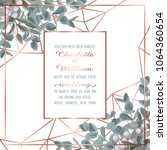 wedding invitation card with... | Shutterstock .eps vector #1064360654