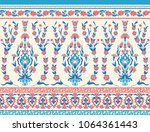 traditional floral fabric... | Shutterstock .eps vector #1064361443