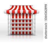 empty market stall. kiosk with... | Shutterstock .eps vector #1064362898