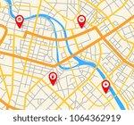 navigation european city map... | Shutterstock .eps vector #1064362919