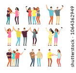 neighbors men and women... | Shutterstock .eps vector #1064362949