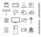 set of different elements of... | Shutterstock . vector #1064363354