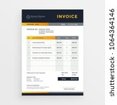 professional business invoice... | Shutterstock .eps vector #1064364146