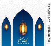 eid mubarak background with... | Shutterstock .eps vector #1064364266