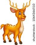 cute deer cartoon standing with ...   Shutterstock .eps vector #1064366510