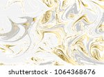 gold and gray marbled texture.... | Shutterstock .eps vector #1064368676