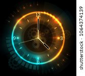 digital futuristic watch with... | Shutterstock .eps vector #1064374139