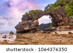 natural bridge rock formation... | Shutterstock . vector #1064376350
