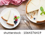 classical new york cheesecake... | Shutterstock . vector #1064376419