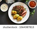Medium Rare Roast Beef With...