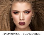 beautiful blond model with...   Shutterstock . vector #1064389838