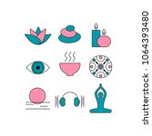 set of icons relaxation ... | Shutterstock .eps vector #1064393480