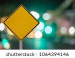 blank road sign.blank signboard ... | Shutterstock . vector #1064394146