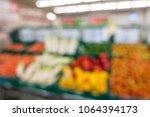 defocused of vegetables and... | Shutterstock . vector #1064394173