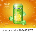 lemon soft drink advertising.... | Shutterstock .eps vector #1064395673