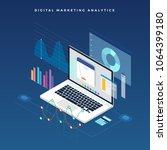 flat design concept business... | Shutterstock .eps vector #1064399180